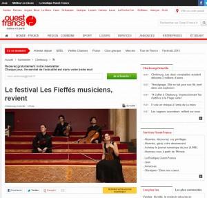 Article sur le Festival Les Fieffés Musiciens dans Ouest France